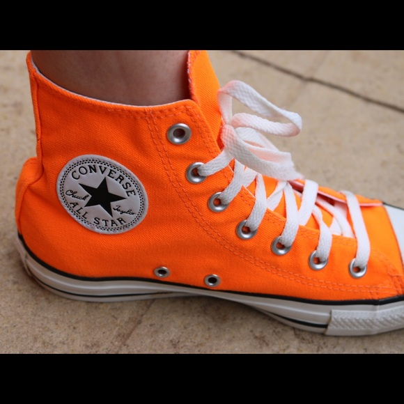 Converse All Star II Hi shoes neon orange red